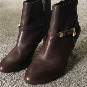 Brown Vince Camuto booties
